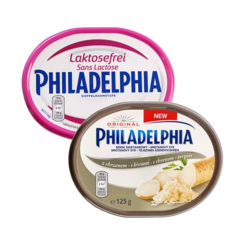 Tepamajam sūrio kremui PHILADELPHIA, 125–200 g (9 rūšys)