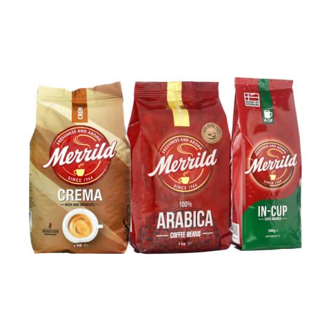 Maltai kavai ir kavos pupelėms MERRILD, 0,25–1 kg (5 rūšys)