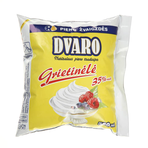 Pasterizuota grietinėlė DVARO, 35% rieb., 500 ml