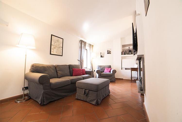 zona giorno appartamento in centro a Milano
