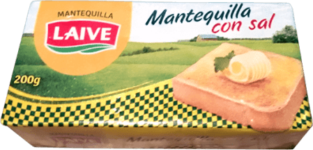 MANTEQUILLA LAIVE CON SAL 200 GRS- Cod:0550