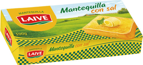 MANTEQUILLA LAIVE CON SAL 100 GRS- Cod:0540