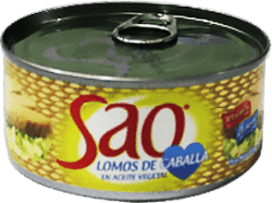 Lomo de caballa en aceite Sao caja 48 latas x170g