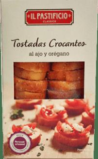 IL Pastificio tostadas ajo y orégano