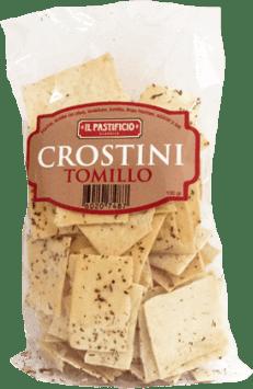 Crostini tomillo