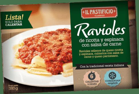 Comida Lista - Raviol Ricota y Espinaca s/ Salsa Carne