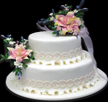 Torta doble bouquete- 2 pisos