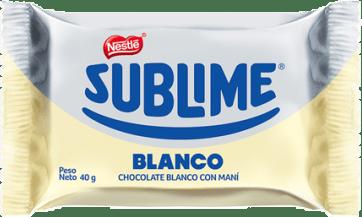 NESTLÉ  Chocolate Sublime Sonrisa Blanco
