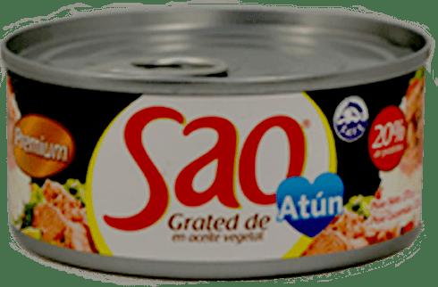 Grated de atún en aceite Sao caja 48 latas x170g
