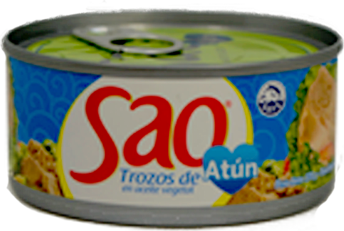 Trozos de atún en aceite Sao caja 48 latas x170g
