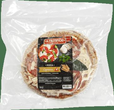 PIZZA CAPRESE CON MASA INTEGRAL