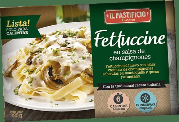 Comida Lista - Fettuccine c/ Salsa de champignones