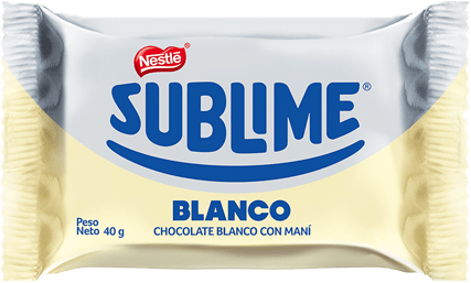 NESTLÉ  Chocolate Sublime Sonrisa Blanco