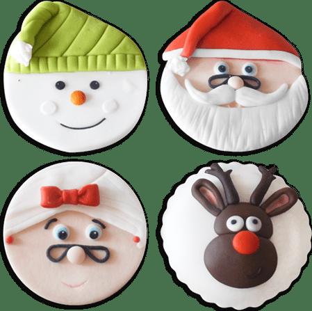 Navidad pack cupcake x 4 Santa