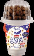 Yogurt Yopi Mix Vainilla/Bolitas de Chocolate Laive Vaso 1x100g