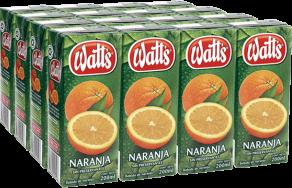 Néctar Naranja Watts Pack 6x200ml