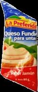 Crema de Queso Sabor Jamón La Preferida Sachet 1x80g