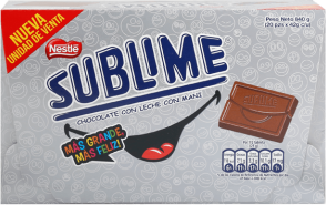 Chocolate Sublime Sonrisa Nestle Display 20x42g