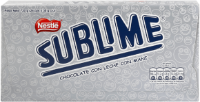 Chocolate Sublime Clásico Nestle Display 24x30g