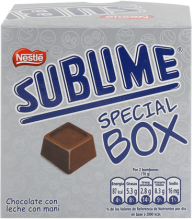 Chocolate Sublime Bombones Box Nestle Display 20x8g