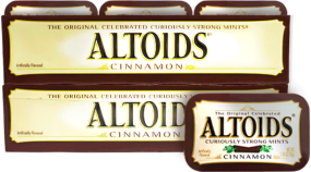 Caramelo Altoids Cinnamon Altoids Display 12x50g