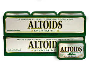 Caramelo Altoids Spearmint Altoids Display 12x50g