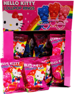Caramelo Hello Kitty Lollipop Ring Hello Kitty Display 24x12g