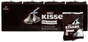 Chocolate Hersheys Kisses Milk Chocolate Hersheys Display 24x43g