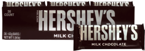 Chocolate Hersheys Milk Chocolate Hersheys Display 36x43g