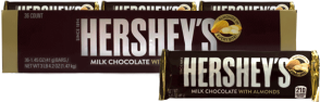 Chocolate Hersheys Almond Hersheys Display 36x42.5g