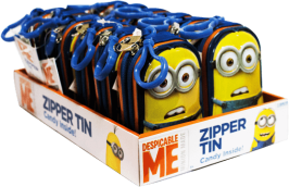 Caramelo Minions Zipper Tins Minions Display 12x15g