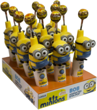 Caramelo Minions Bob Animated Spin Pop Minions Display 12x12g