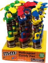 Chocolate M&M'S Helicopter Candy Fan Mars Display 12x13g