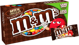 Chocolate M&M'S Milk Chocolate Box Mars Display 12x87.9g