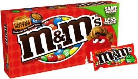 Chocolate M&M'S Peanut Butter Box Mars Display 12x85.1g