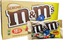Chocolate M&M'S Almond Mars Display 18x80.2g