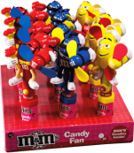 Chocolate M&M'S Character Candy Fan Mars Display 12x13g