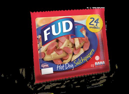 Hot Dog Salchipapero 912g Fud