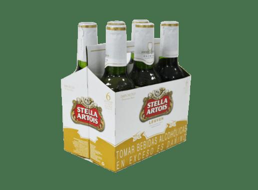 CERVEZA STELLA ARTOIS 330ML (VIDRIO NO RETORNABLE)