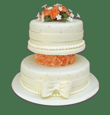 Torta Rosas melones-Especial 2 pisos