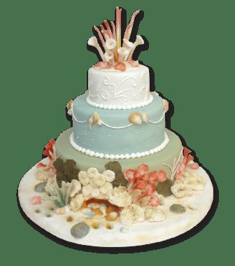 Torta Estilo playero- 3 pisos