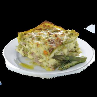 Lasagna Jamón, Espárragos y Champignones x 1 kg
