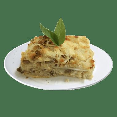 Lasagna Pollo y Champingnones