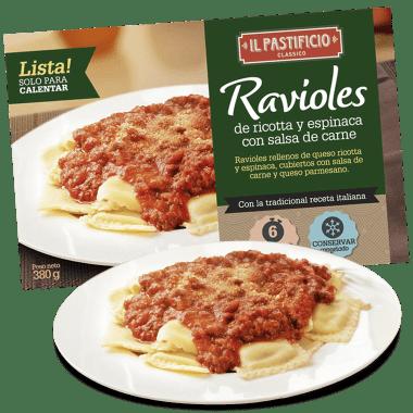 Comida Lista - Raviol Carne c/ Salsa Tomate