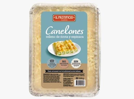 Cannelloni de Ricota y Espinaca