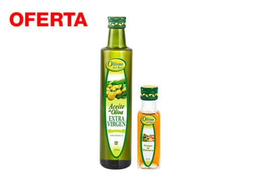 Pack Aceite de Oliva Extra Virgen x 500 ml + 1 Vinagre de Manzana x 100 ml