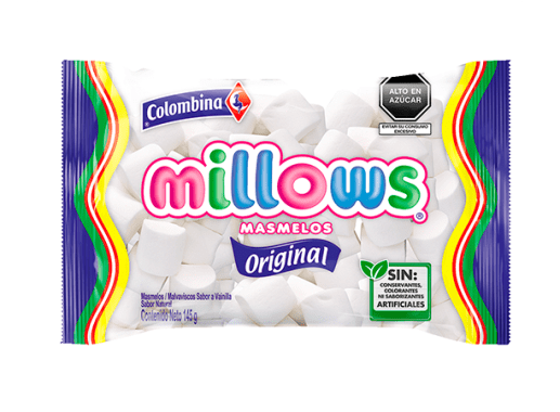 Millows Marshmallows Cilindro Blanco