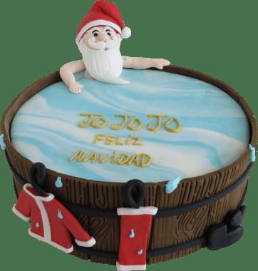 Baño de Papá Noel 21 Cm