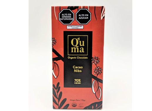 CHOCOLATE CACAO NIBS 70%CACAO 70G QUMA
