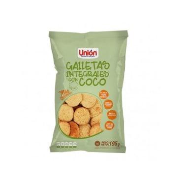 GALLETAS INTEGRAL DE COCO 195G UNION